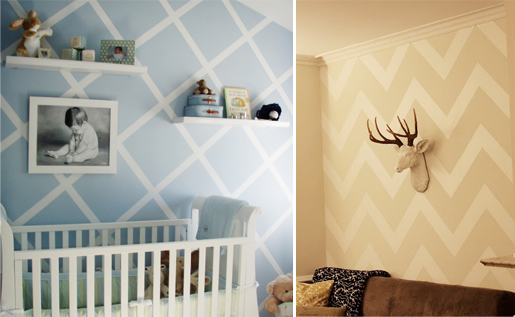 Gallery For > Wall Painting Ideas Geometric | nursery paint ...