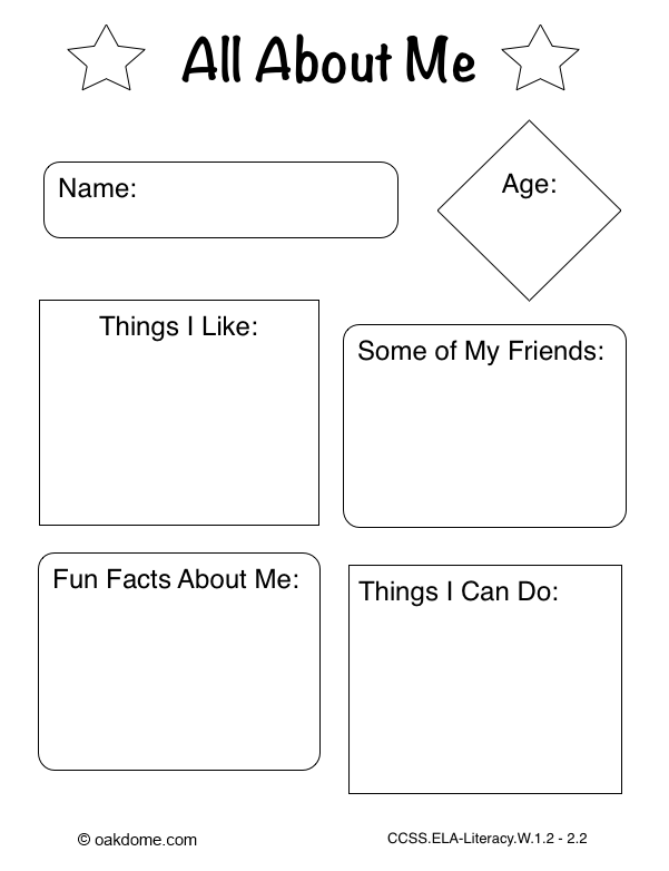iPad Graphic Organizer All About Me (Common Core Aligned iPad Pages ...
