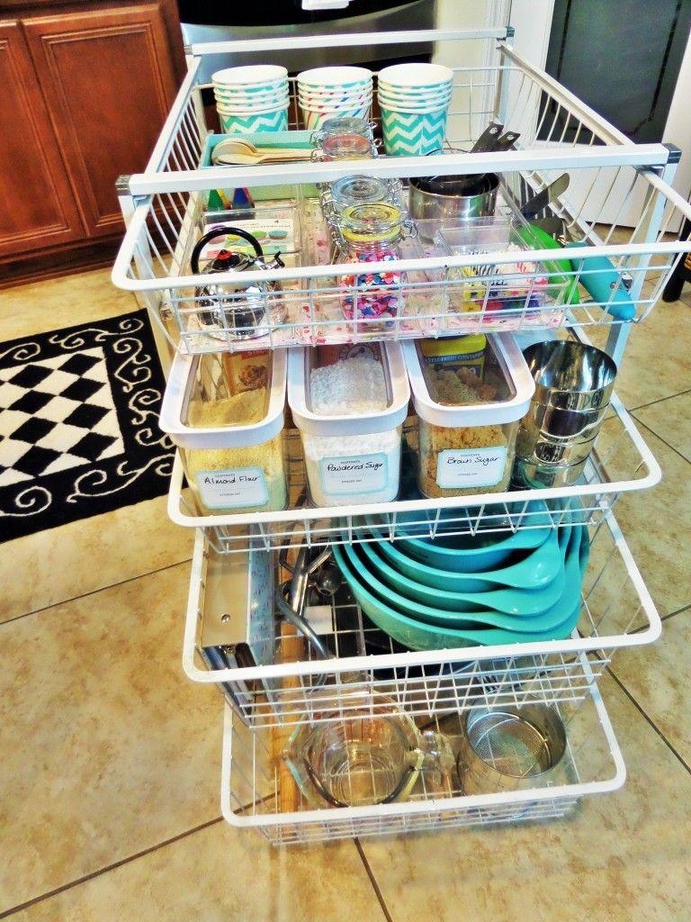 Diy baking station baking supplies organization baking