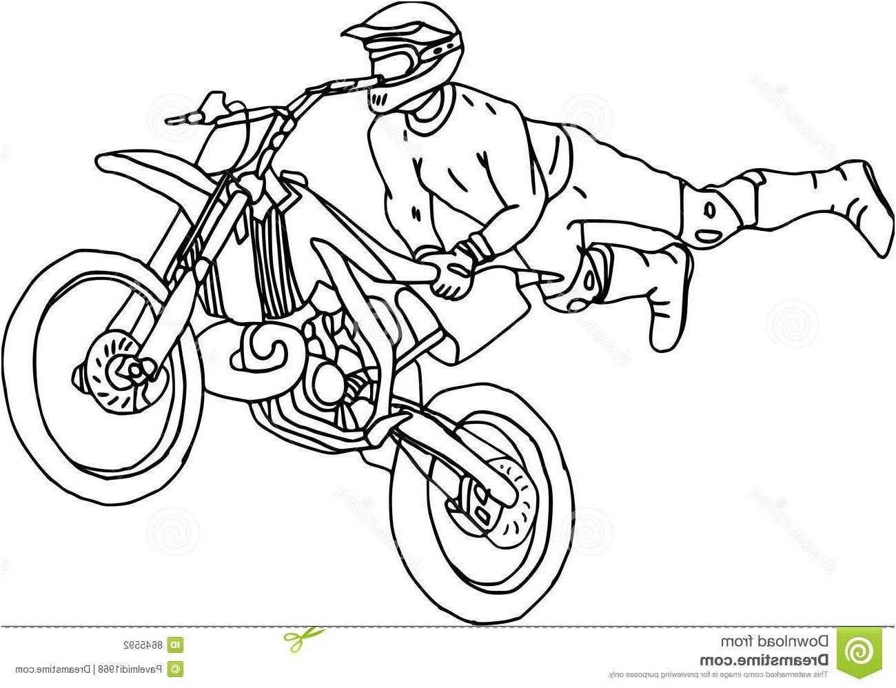 Moto Cross Coloriage