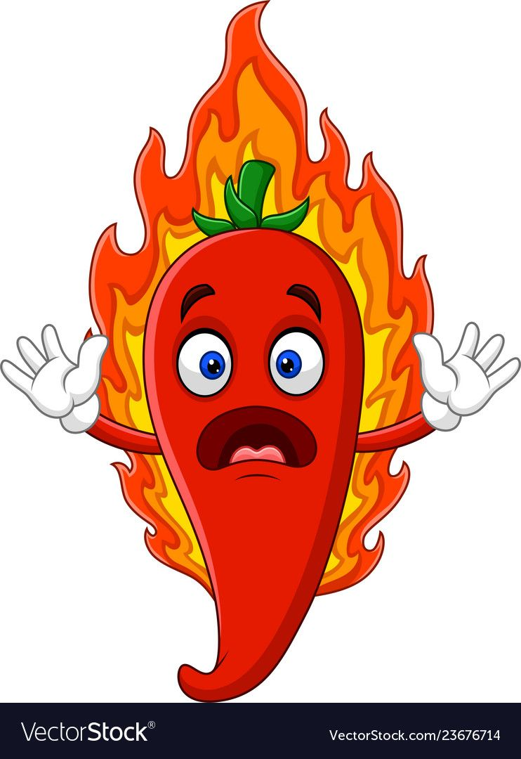 Cartoon Hot Chili Pepper Royalty Free Vector Image Desain Logo Restoran Desain Logo Kartun