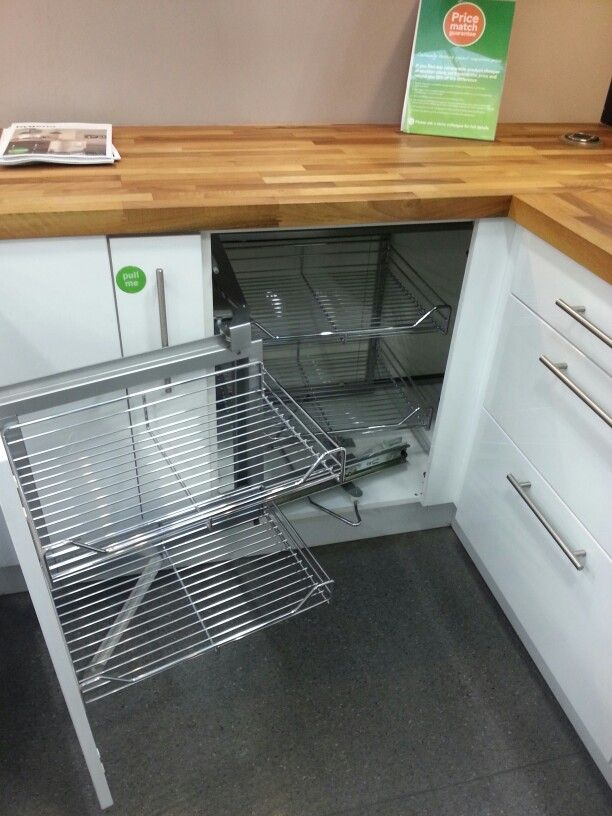 Magic corner unit available in our hygena and schreiber for Cuisine hygena