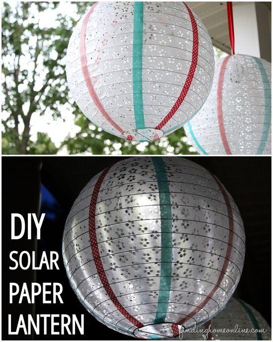 Make Your Own Diy Solar Paper Lanterns