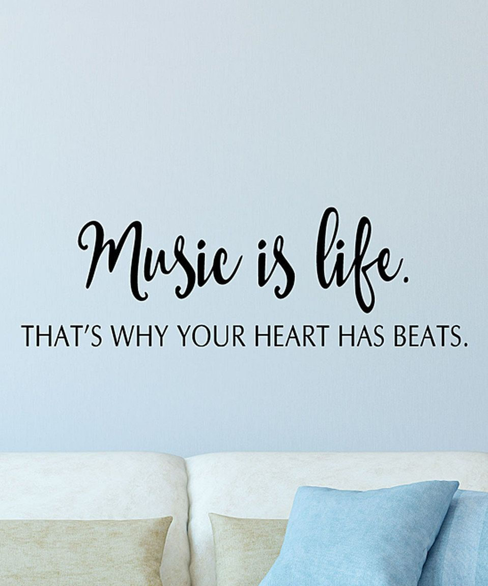 Life Wall Quotes Wallquotesbelvedere Designs 'music Is Life' Wall Quotes