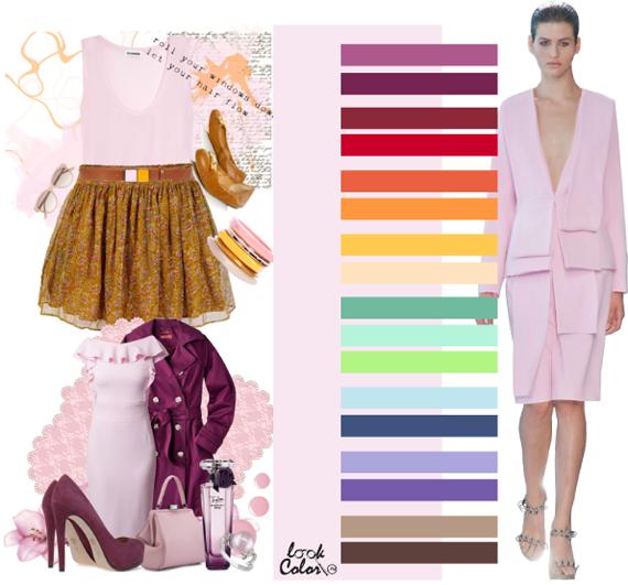 Какие цвета сочетаются с розовым цветом