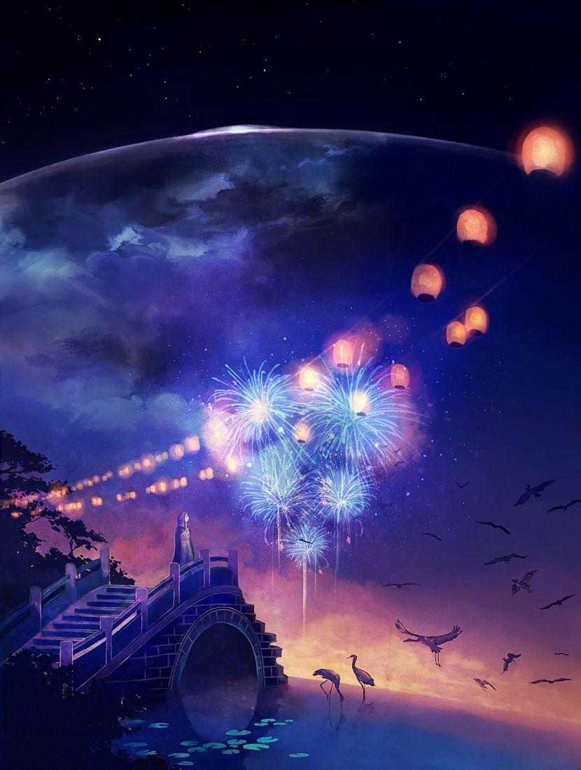 night of the crane festival. by megatruh.deviantart.com on @deviantART