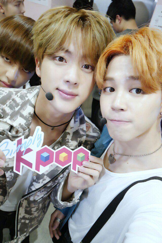 V ( Taehyung ), Jin & Jimin - BTS at Simply Kpop Twitter ...