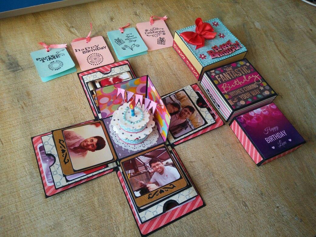 Birthday gift Explosion box Diy exploding box, Birthday