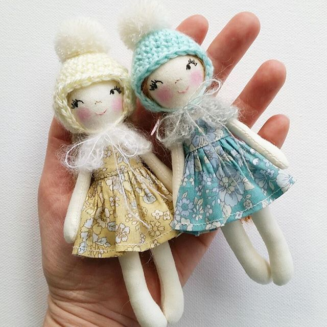 surprise listing these two miniature dolls have just been finished rh nz pinterest com