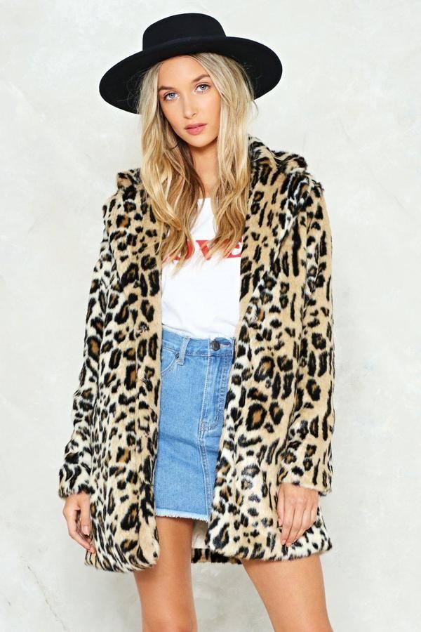 03fc2ec763f5 Grrrl Power Faux Fur Leopard Coat   Shop Clothes at Nasty Gal in ...