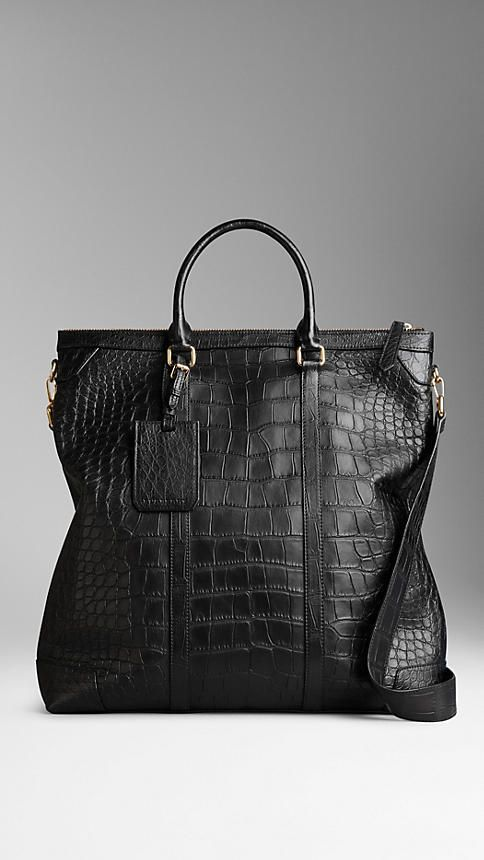 Burberry Alligator Leather Tote Bag on shopstyle.co.uk  b392f7c4103f4