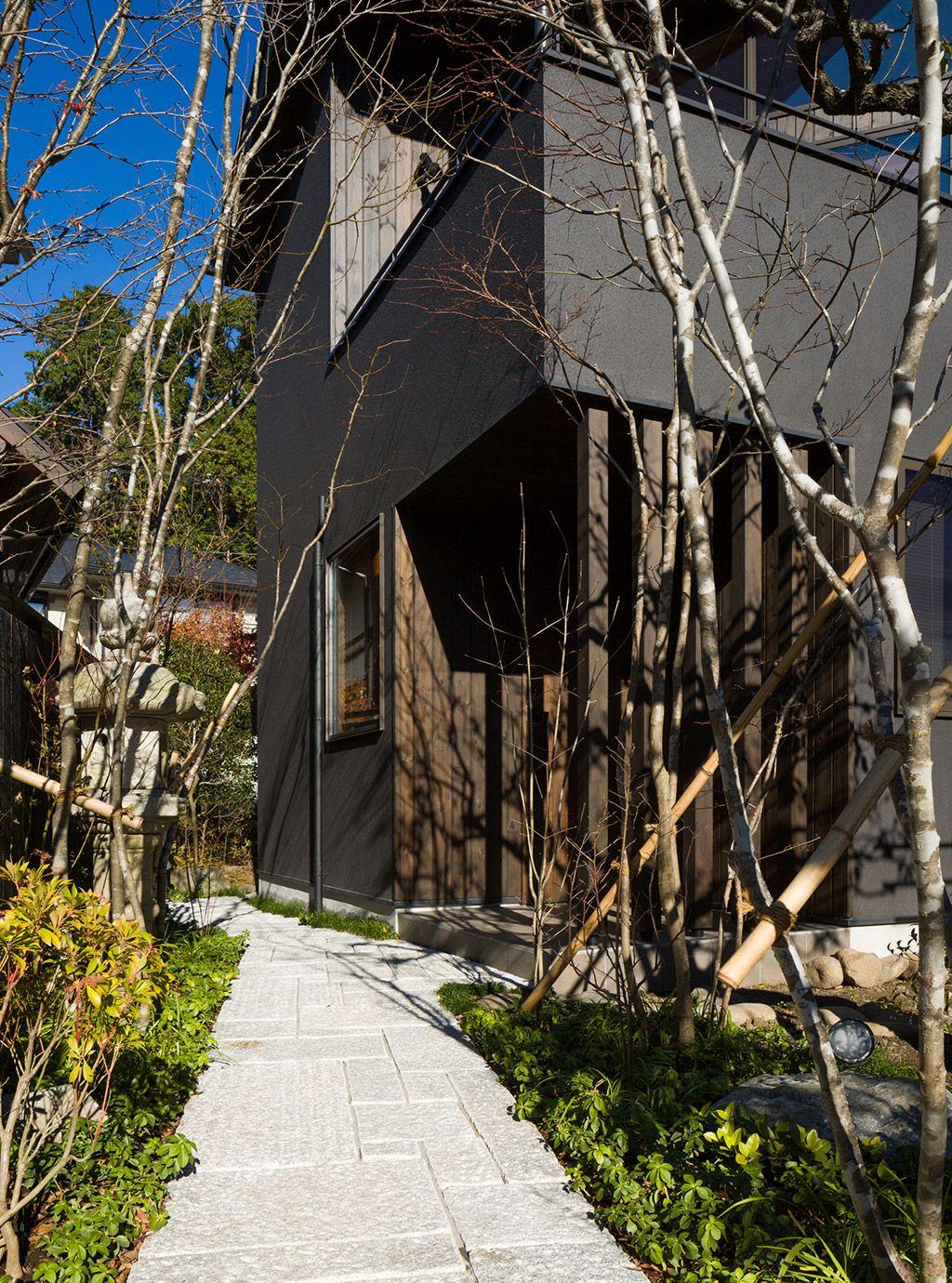 深軒のテラスがある家 鎌倉 神奈川県鎌倉市の一級建築士事務所 Sデザイン設計 住宅 家 無垢 漆喰 木造 意匠 インテリア等 マイホーム 外観 テラス 家