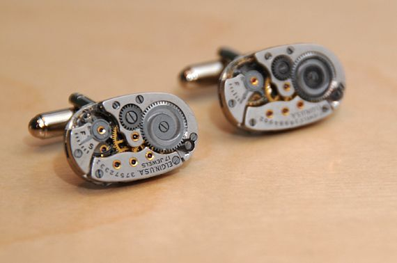 timepiece cuff links