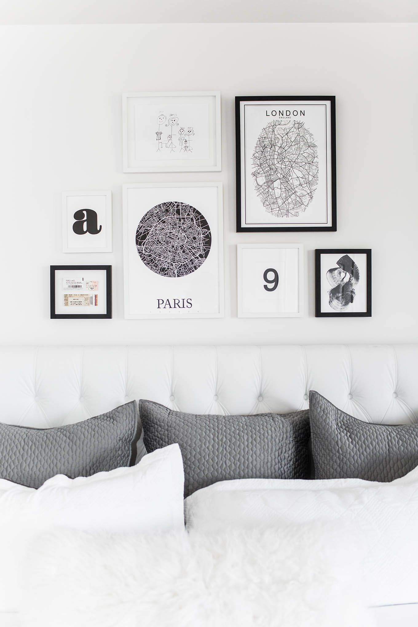Simple Bedroom Drawing: Bedroom Gallery Wall (Hello Fashion)
