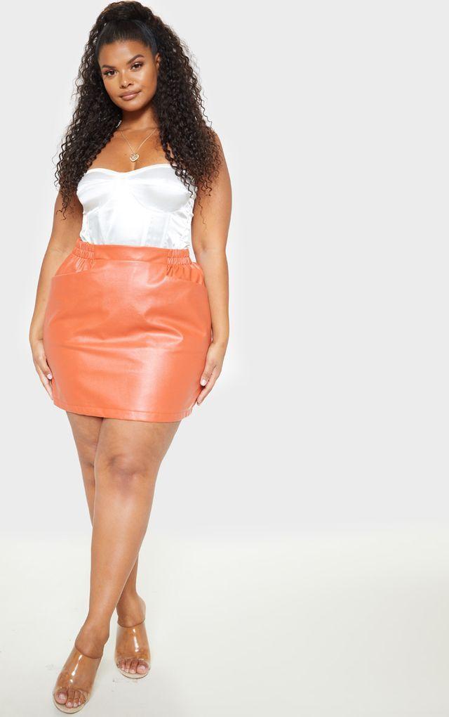 Petite Khaki PU Mini Skirt | Mini skirts, Fashion, Skirts