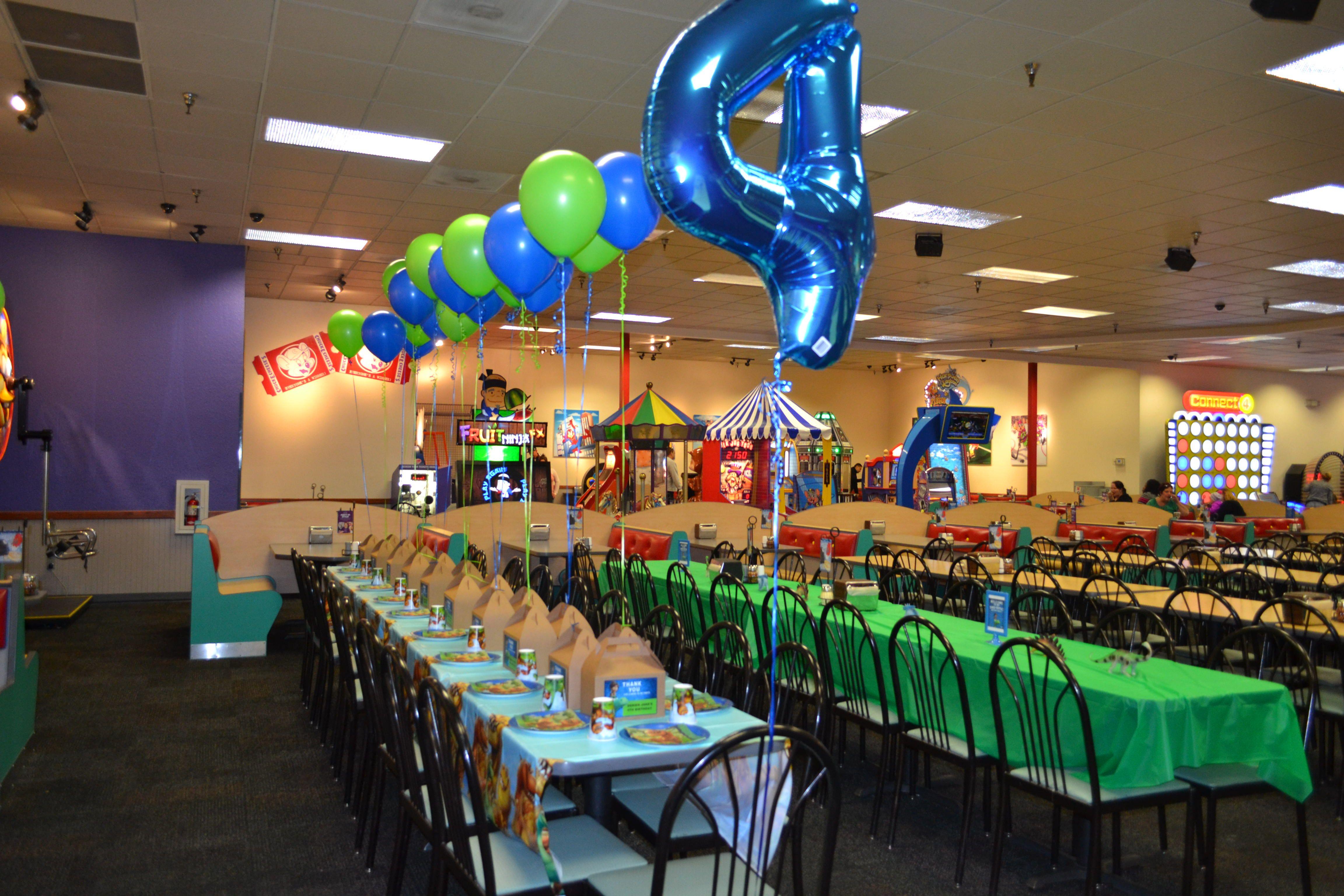 Dj S 4th Birthday Chuck E Cheese Party The Good Dinosaur Theme Chucky Cheese Birthday Party Monster Jam Birthday Party Pokemon Birthday Party