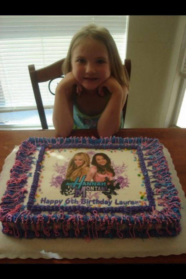 Stupendous Hannah Montana Birthday Cake Edible Image Cake Birthday Cake Birthday Cards Printable Inklcafe Filternl