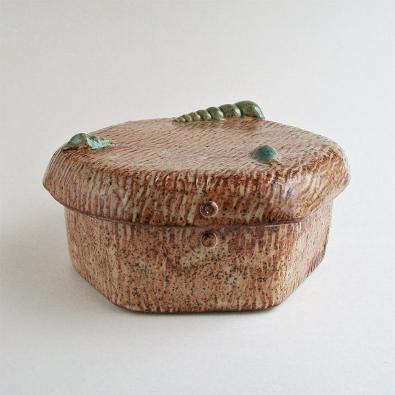 stoneware hexagonal box