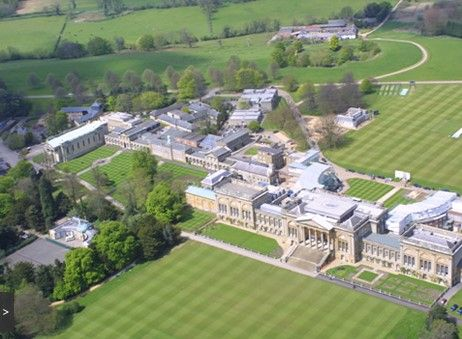 Aerial view of Stowe House