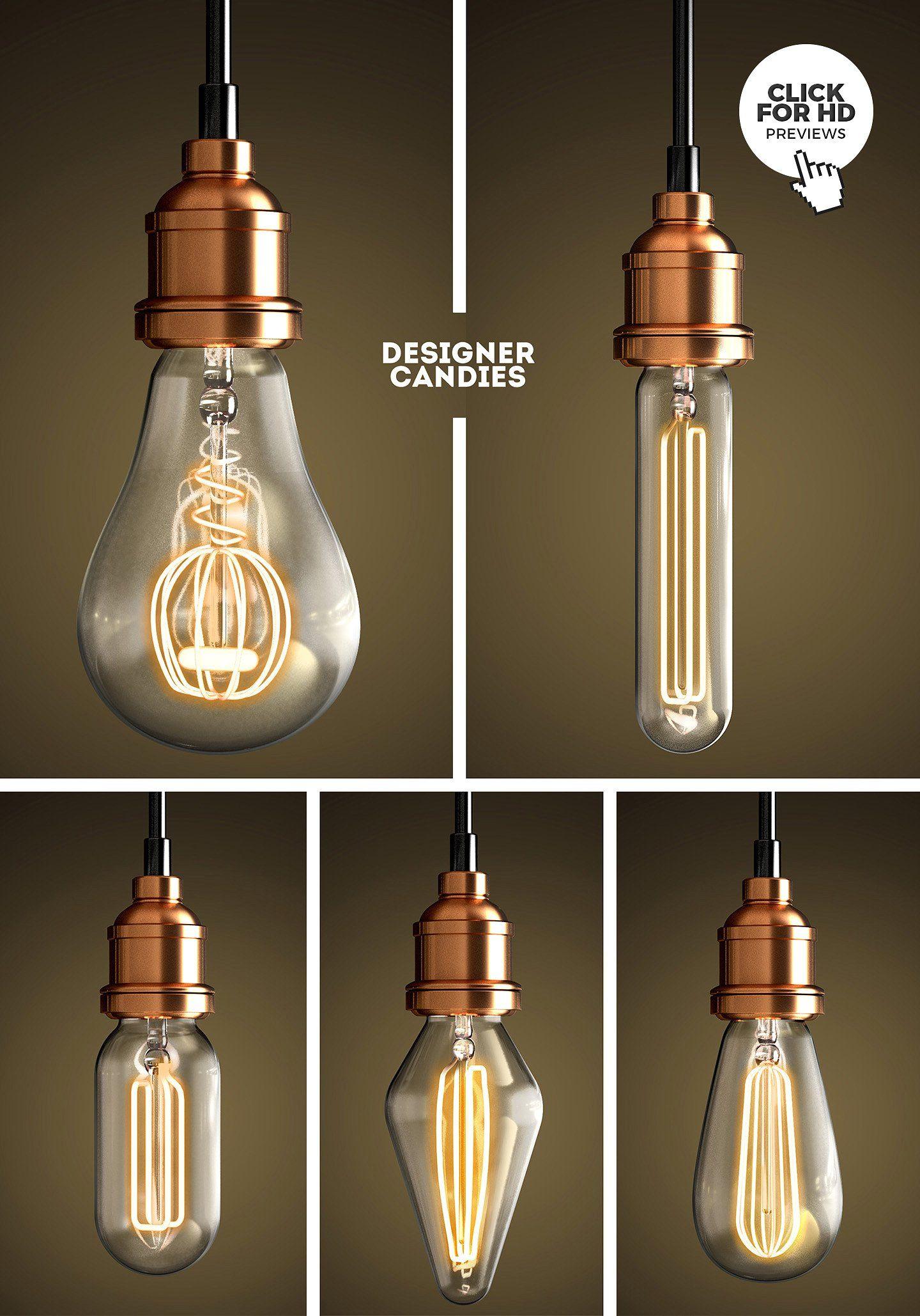 Vintage Lightbulb Renders Pack Vintage Light Bulbs Light Bulb Bulb