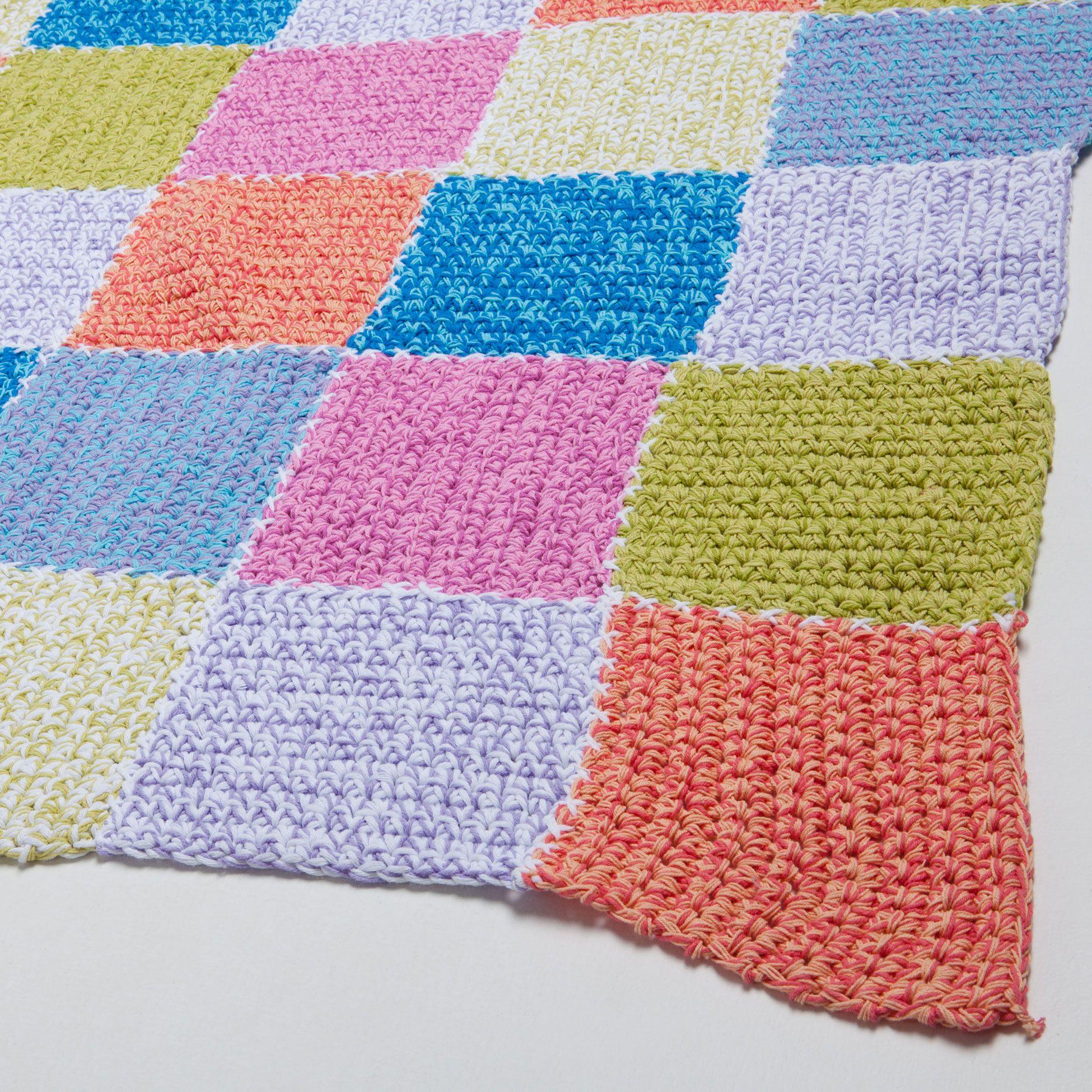 Mantas De Ganchillo De Cuadros Cuadros Crochet