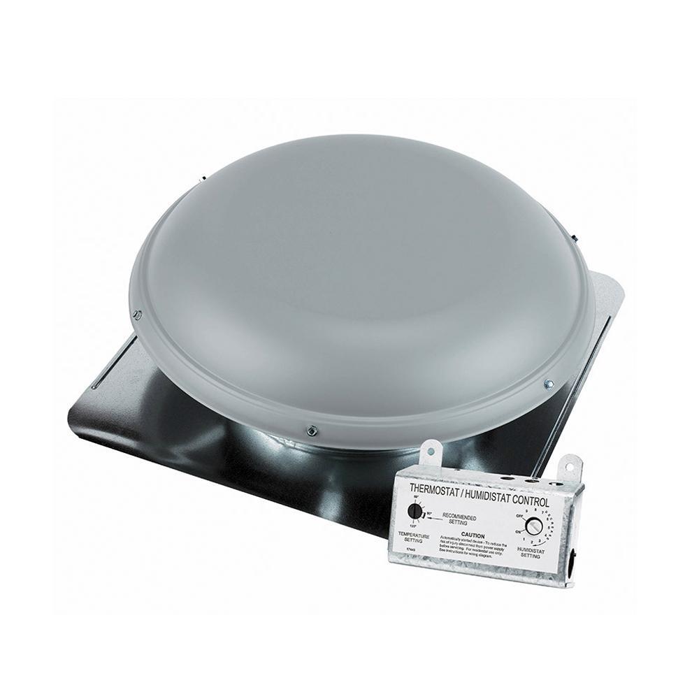 Air Vent 1170 Cfm Gray Power Roof Mount Attic Ventilator Rv26gr Attic Vents Attic Solar Attic Fan