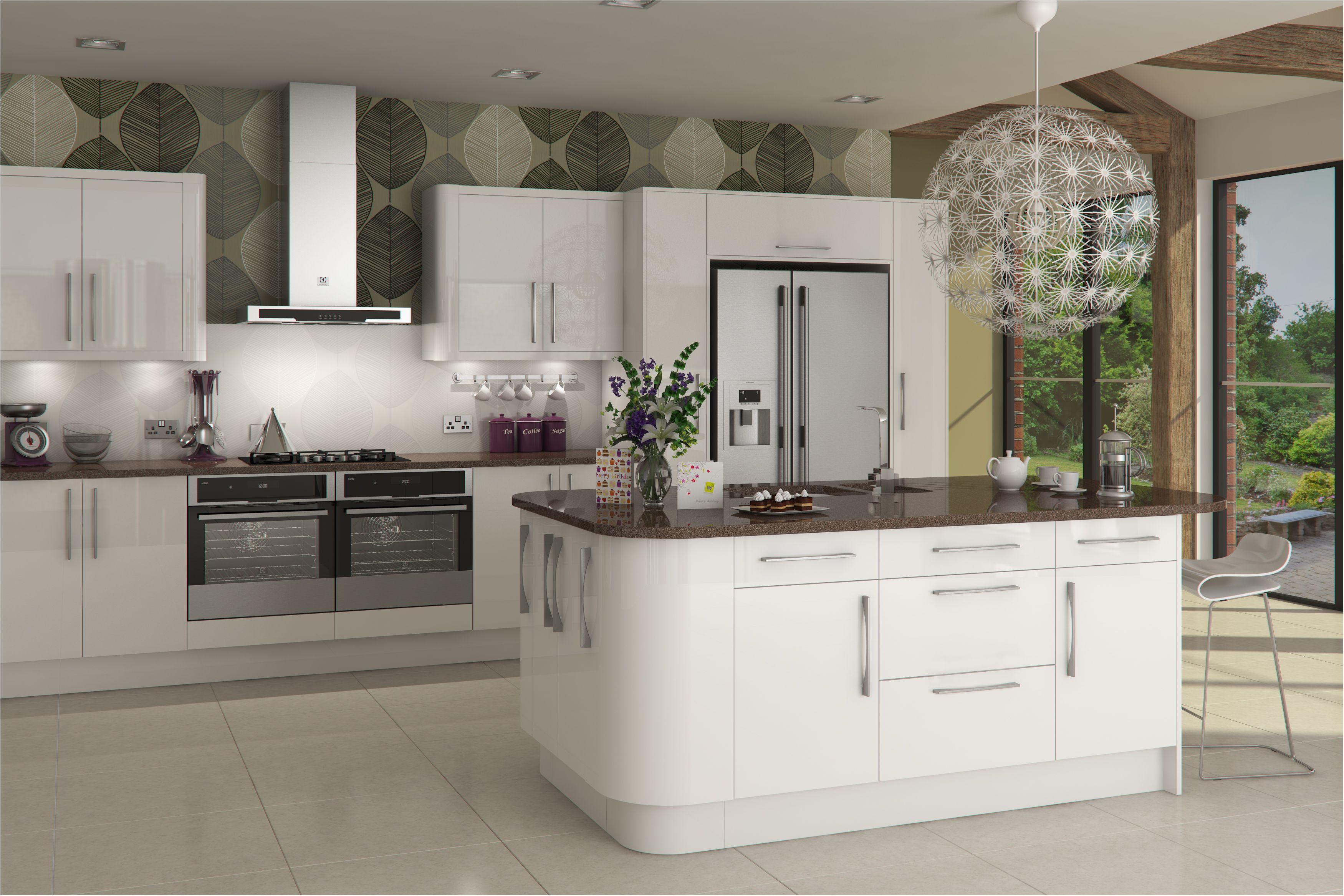 A Innova Livorna white gloss kitchen http//www.diy