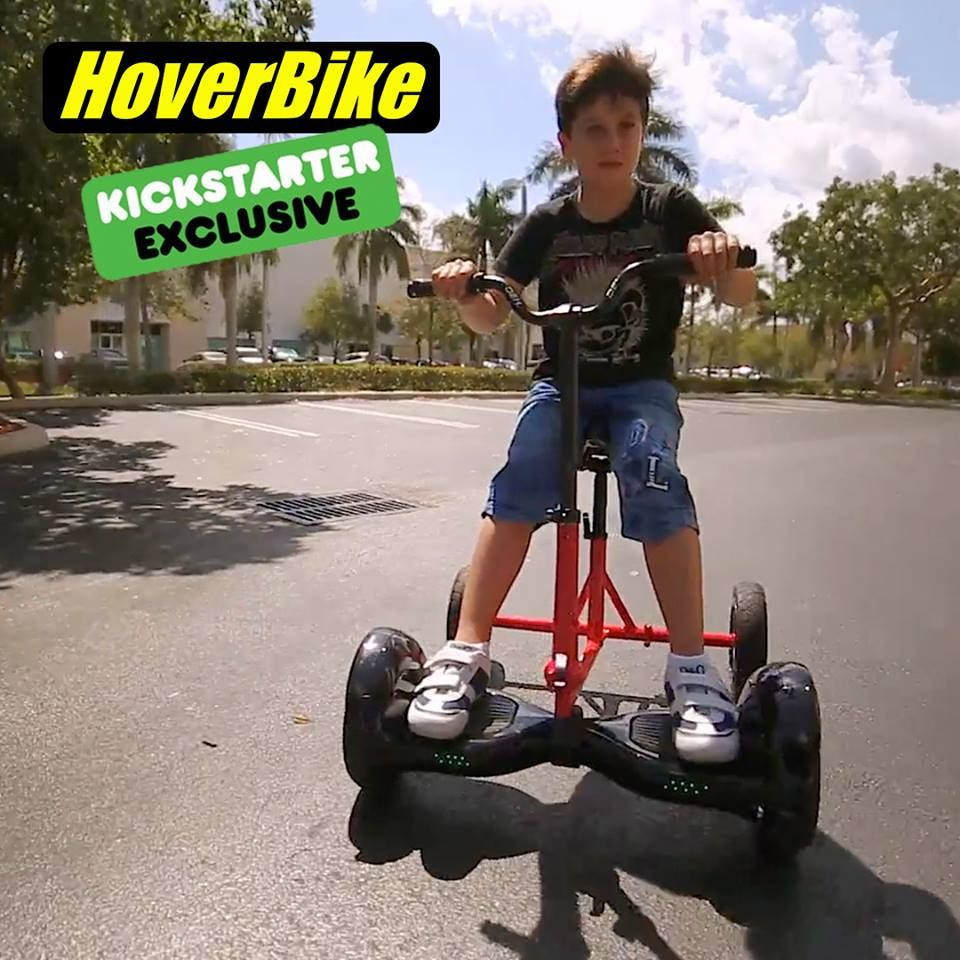 Hoverbike turn your hoverboard into an electric vehicle