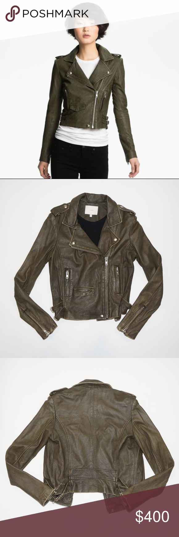 Iro Ashville Olive Green Leather Jacket Olive Green Leather Jacket Green Leather Jackets Leather Jacket [ 1740 x 580 Pixel ]
