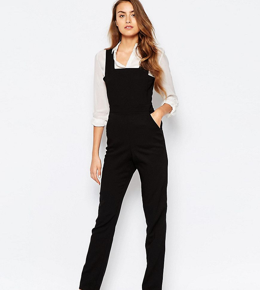 Alter tall pinafore tailored jumpsuit black tailored jumpsuit