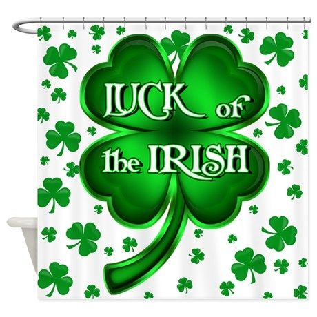 Luck Of The Irish With Shamrocks Shower Curtain By Mgraph Luck