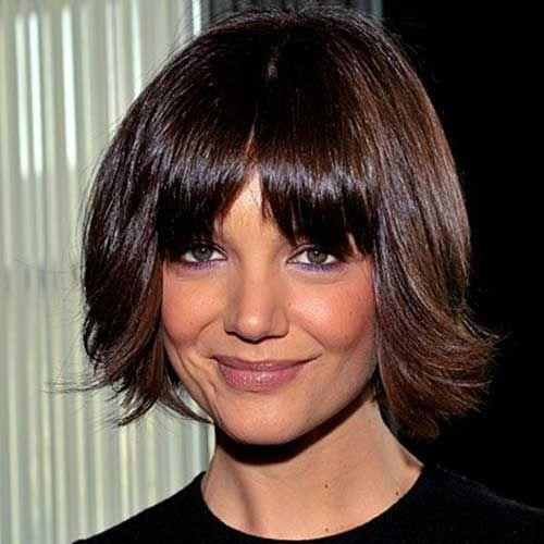 15 Katie Holmes Bob With Bangs Bob Haircut And Hairstyle Ideas Bob Haircut With Bangs Bob Hairstyles Short Hair Styles