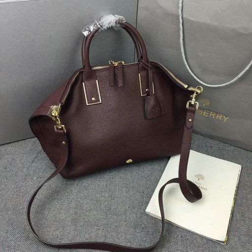 2015 Mulberry Small Alice Zipped Bag In Oxblood Small