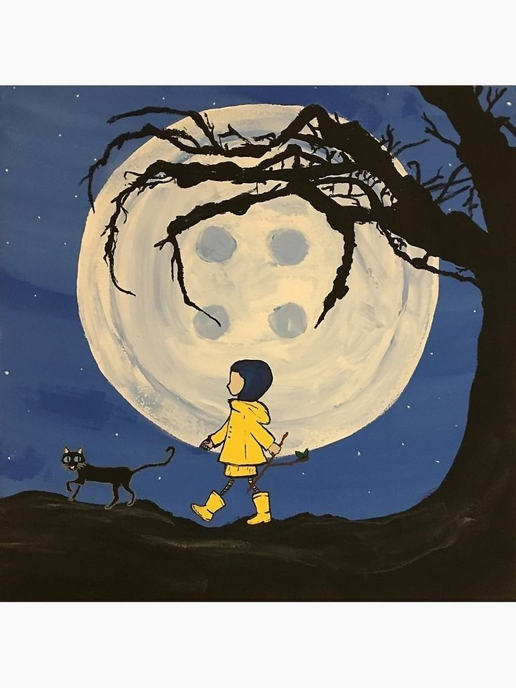 Pin By Campbell Karres On Bocetos Tatuajes Coraline Art Coraline Mini Canvas Art