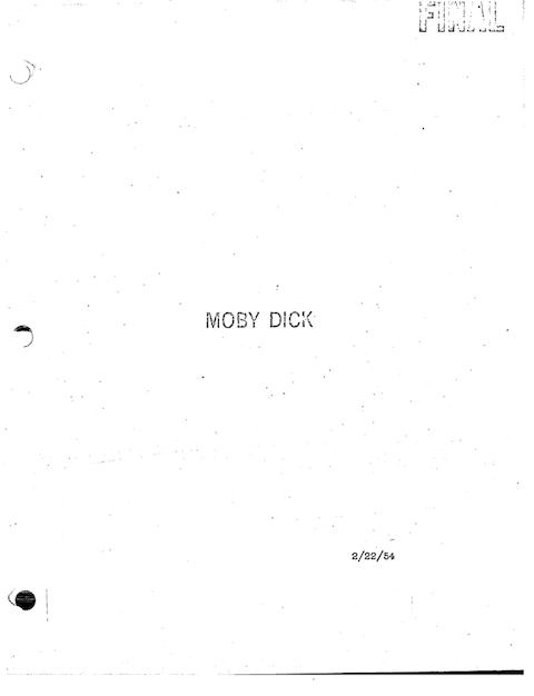 BradburymobydickNo Script An Article  Screenplay Tips