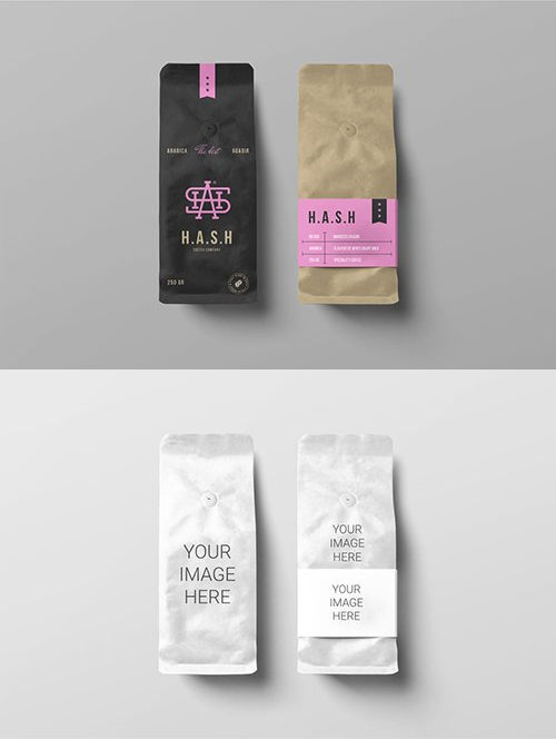 Download Coffee Bags Mockups Free Psd Templates Bag Mockup Coffee Bag Psd Template Free
