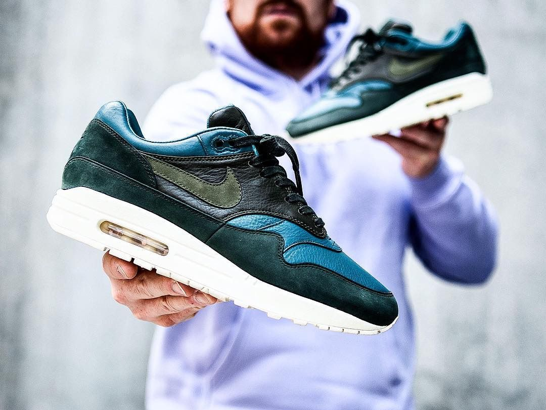 4e3f592fc9 NikeLAB Air Max 1 Pinnacle - Iced Jade/Cargo Khaki/Outdoor Green - 2017 (by  sneakersjeansts) Sole Trees makes shoe trees designed solely for the makeup  of ...
