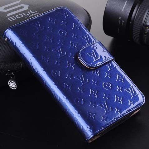 470d3a13d0c Louis Vuitton Galaxy Note 3 Case LV Designer Vernis Wallet Blue  NoteCase -0146