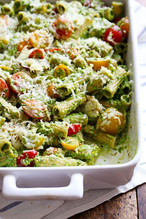 recipe: low calorie pesto pasta [15]