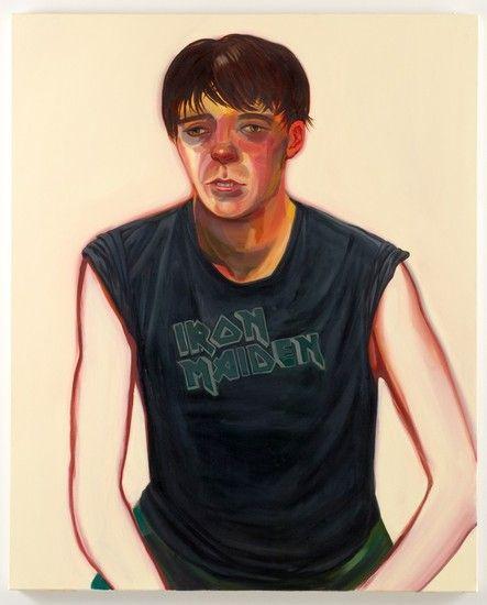 "nicole eisenman - Portrait of Celeste, 2007, Oil on canvas, 48"" x 39"""