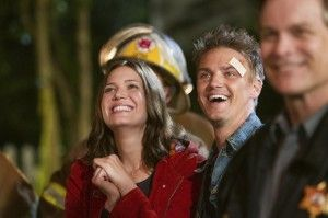 Riley Smith & Mandy Moore from the movie Christmas in Conway.