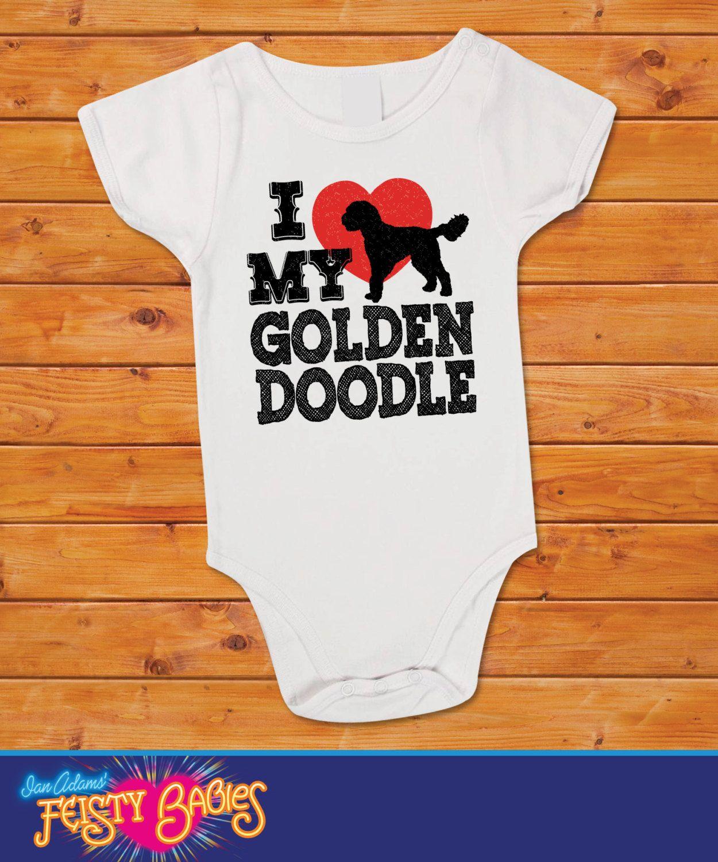 I Love My Goldendoodle Onesie 13 99 Via Etsy Baby Stuff I Love