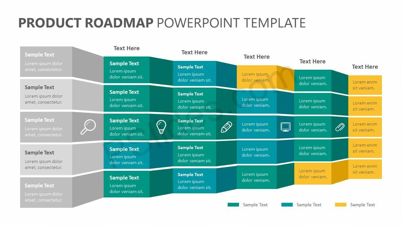 Product Roadmap PowerPoint Template Roadmap infographic