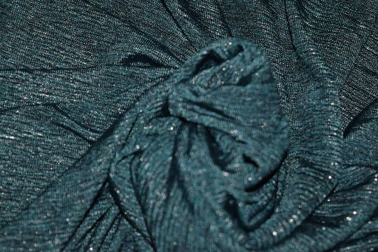 f103669ed36 Jersey knit fabric green silver Crinkle sparkle polyester mix knit stretch  material sparkly glitter