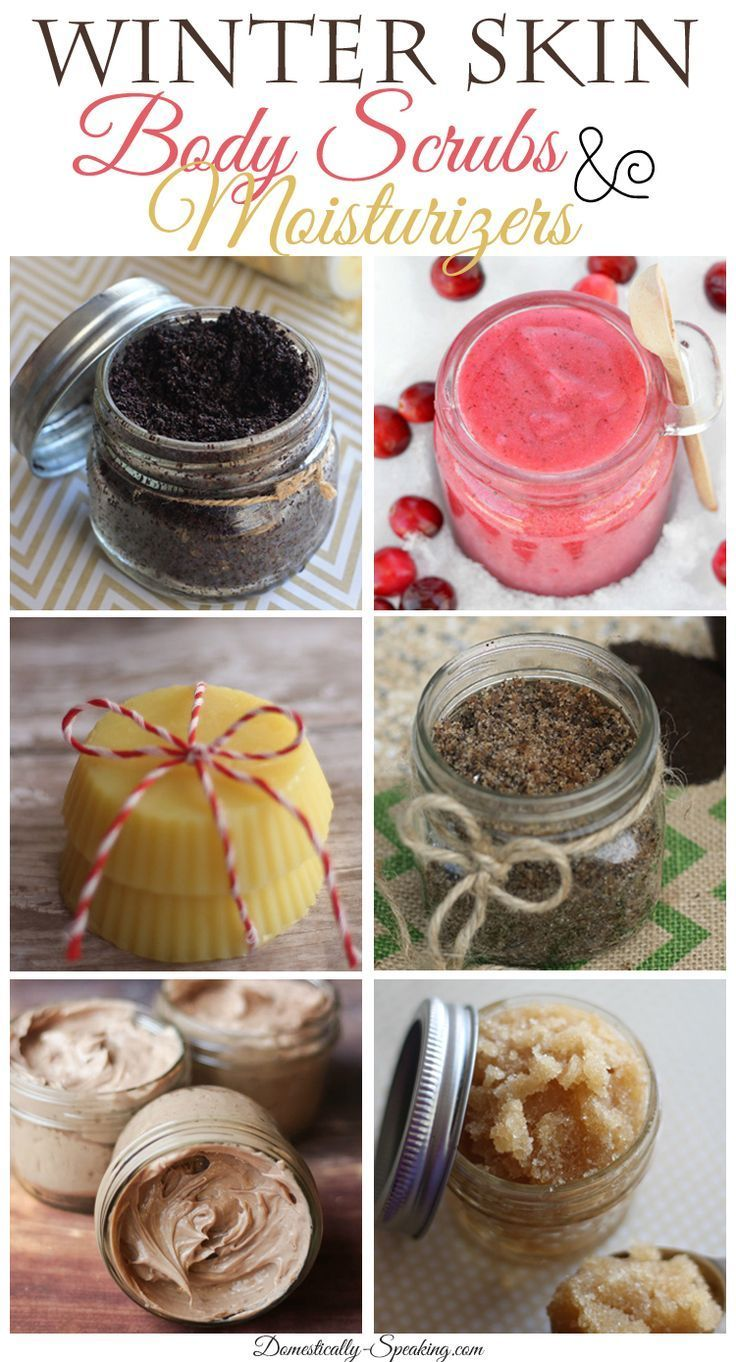 DIY Winter Skin Body Scrubs and Moisturizers