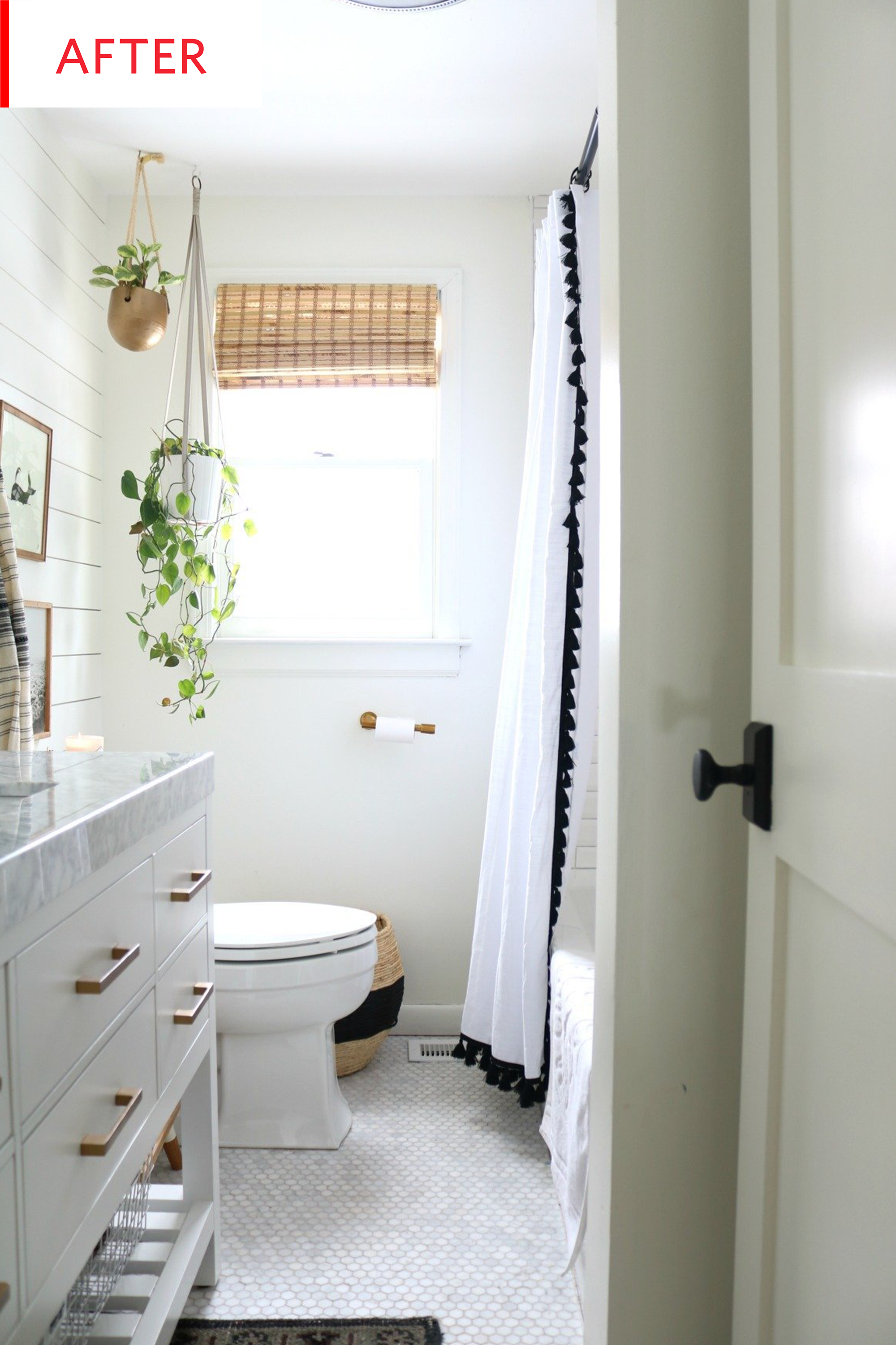 Before And After This Nautical Bathroom Is Now Much More Subtle