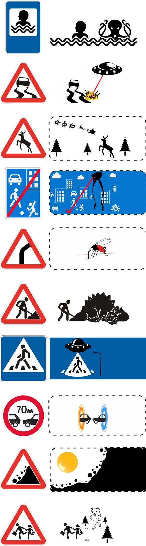 Découvrez le vrai sens sur les panneaux de signalisation!