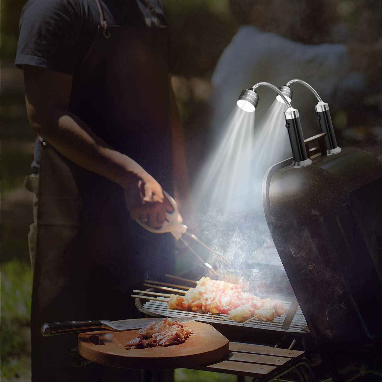 Aknmsoy Led Bbq Grill Light Set Magnetic Grilling Accessory