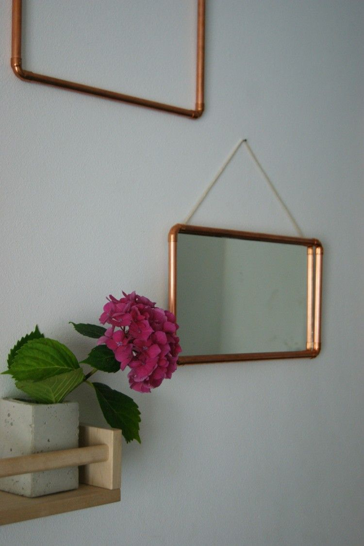 diy miroir cuivre bricolage copper decor copper. Black Bedroom Furniture Sets. Home Design Ideas