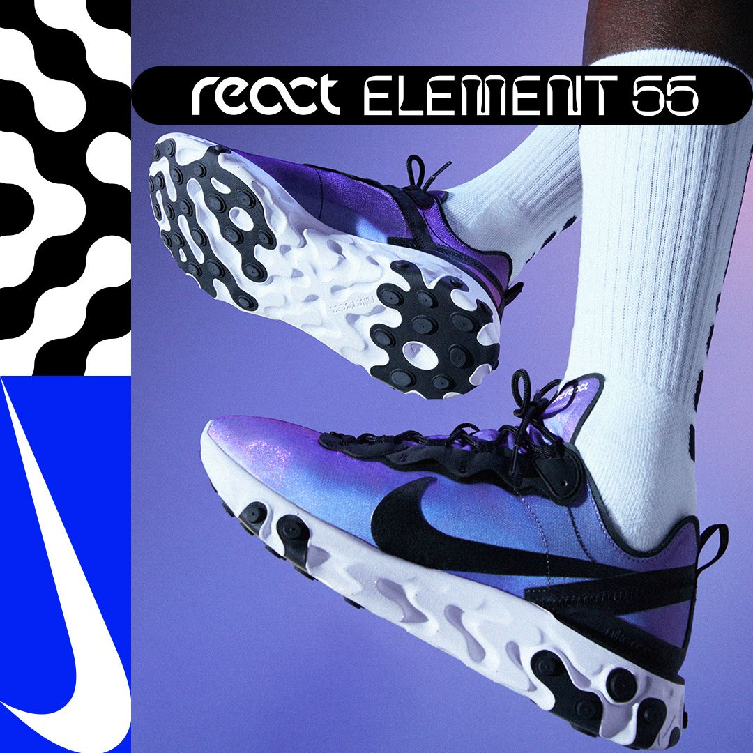 quality design 714a9 66ce2 Nike React Element 55. The unstoppable chemistry of energy and comfort  colliding.